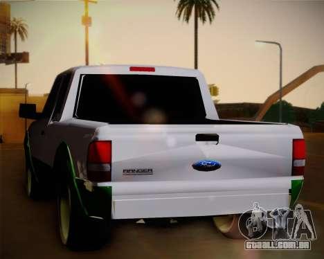 Ford Ranger 2005 para GTA San Andreas vista direita