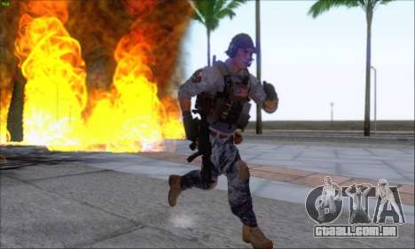 Engineer of Battlefield 4 para GTA San Andreas por diante tela