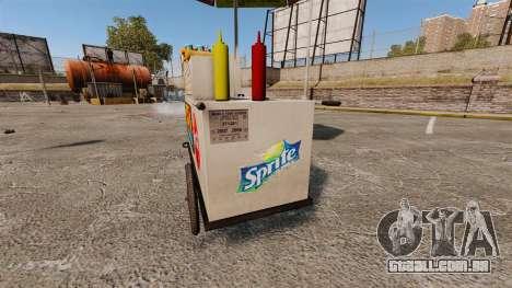 Novas texturas de carrinhos de cachorro-quente para GTA 4 sexto tela