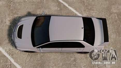 Mitsubitsi Lancer MR Evolution VIII 2004 Stock para GTA 4 vista de volta