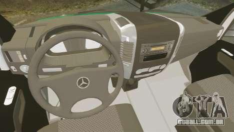 Mercedes-Benz Sprinter Australian Ambulance ELS para GTA 4 vista de volta