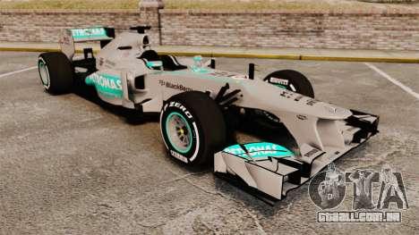 Mercedes AMG F1 W04 v5 para GTA 4