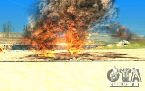New Effects v1.0 para GTA San Andreas por diante tela