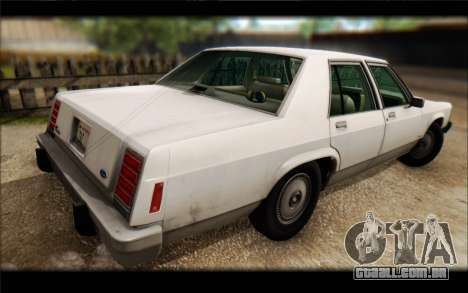 Ford LTD Crown Victoria 1987 para GTA San Andreas vista interior