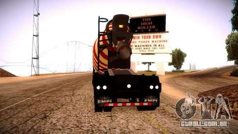 Cement Mixer para GTA San Andreas esquerda vista