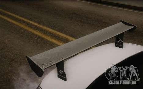 BMW M5 2012 para GTA San Andreas vista traseira