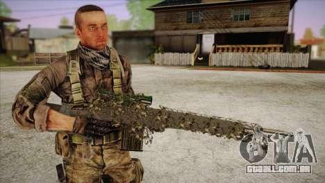 Sniper M-14 With Camouflage Grid para GTA San Andreas por diante tela