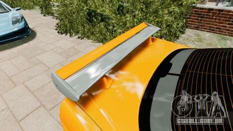 Nissan Skyline R34 GT-R NFS Underground para GTA 4 vista de volta
