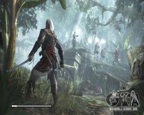 Telas de carregamento em Assassins Creed para GTA San Andreas por diante tela