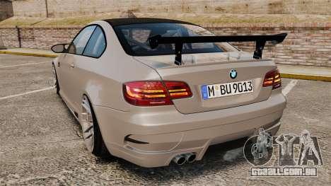 BMW M3 E92 GTS 2010 para GTA 4 traseira esquerda vista