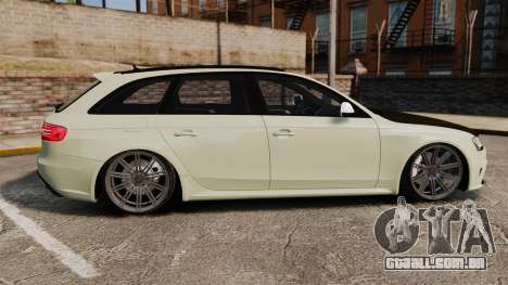 Audi RS4 Avant VVS-CV4 2013 para GTA 4 esquerda vista
