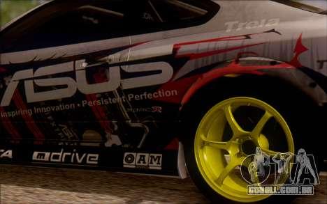 Nissan S15 Asus Team para GTA San Andreas vista traseira