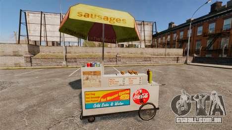 Novas texturas de carrinhos de cachorro-quente para GTA 4 quinto tela