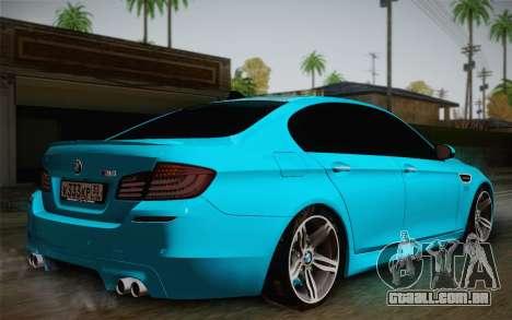 BMW M5 F10 v1 para GTA San Andreas esquerda vista