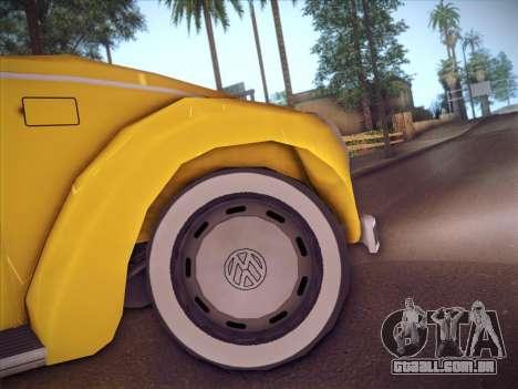Volkswagen Käfer para GTA San Andreas vista interior