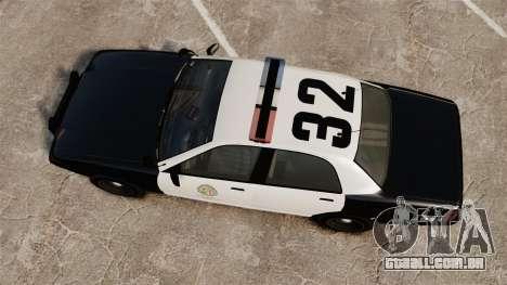 GTA V Police Cruiser [ELS] para GTA 4 vista direita