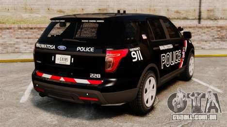 Ford Explorer 2013 Utility - Slicktop [ELS] para GTA 4 traseira esquerda vista