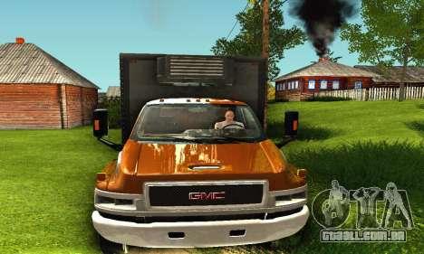 GMC Top Kick C4500 Dryvan House Movers 2008 para GTA San Andreas traseira esquerda vista
