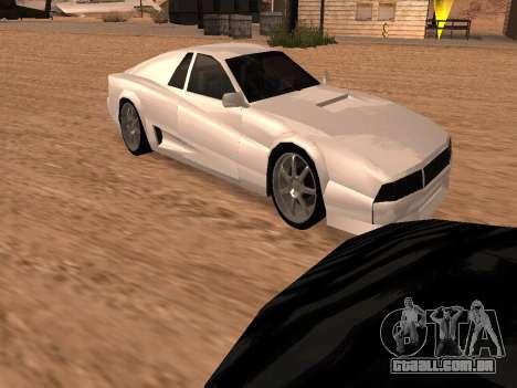 Sheetah Restyle para GTA San Andreas interior