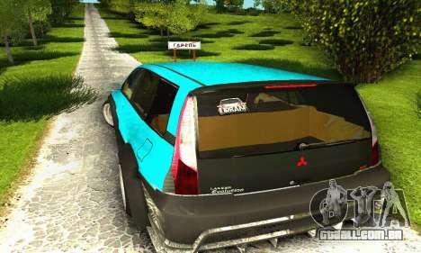 Mitsubishi Evo IX Wagon S-Tuning para vista lateral GTA San Andreas