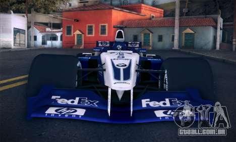 BMW Williams F1 para GTA San Andreas vista superior