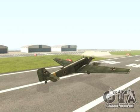 Junkers Ju-52 para GTA San Andreas vista direita