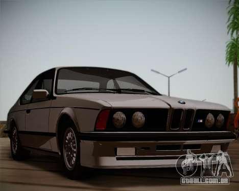 BMW E24 M635 1984 para GTA San Andreas esquerda vista