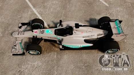 Mercedes AMG F1 W04 v5 para GTA 4 vista direita