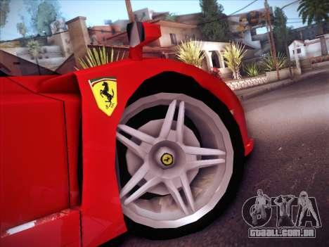 Ferrari Enzo 2003 para vista lateral GTA San Andreas