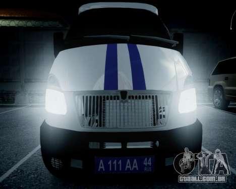 Polícia de gazela 2705 para GTA 4 vista direita