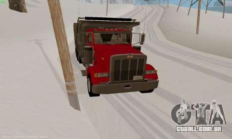 Peterbilt 379 Dump Truck para GTA San Andreas vista traseira