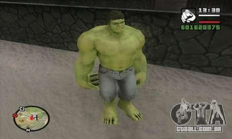 Hulk para GTA San Andreas por diante tela