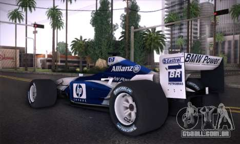 BMW Williams F1 para GTA San Andreas esquerda vista