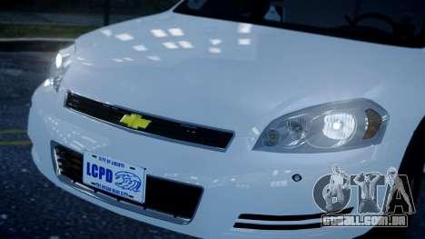 Chevy Impala Unmarked 2010 para GTA 4 vista direita