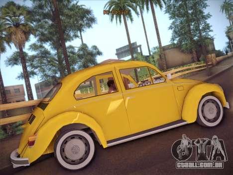 Volkswagen Käfer para GTA San Andreas vista traseira