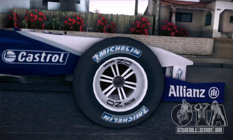 BMW Williams F1 para GTA San Andreas vista direita