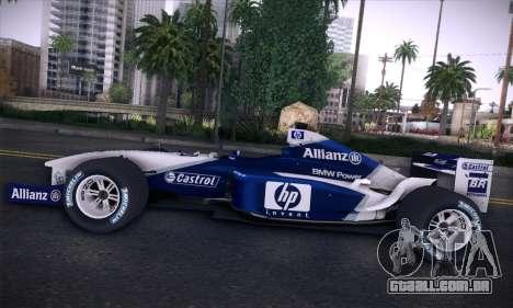 BMW Williams F1 para GTA San Andreas interior