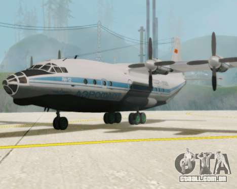 A Aeroflot an-12 para GTA San Andreas