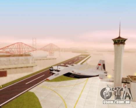 A Aeroflot an-12 para GTA San Andreas vista interior