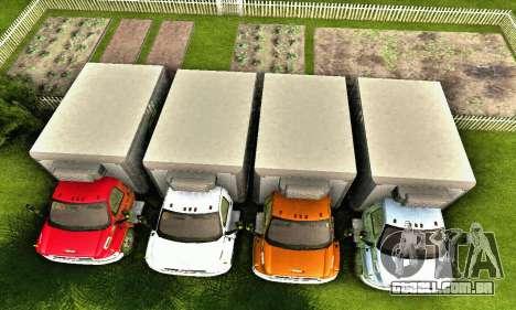 GMC Top Kick C4500 Dryvan House Movers 2008 para GTA San Andreas interior