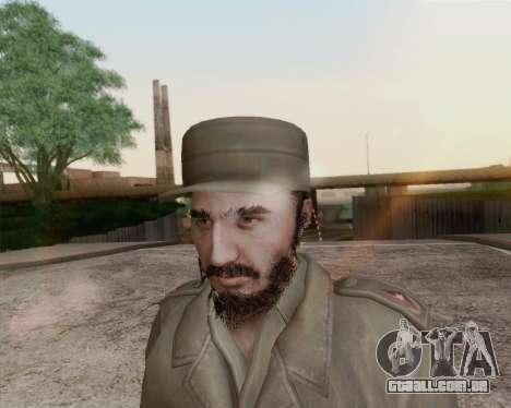 Fidel Castro para GTA San Andreas terceira tela