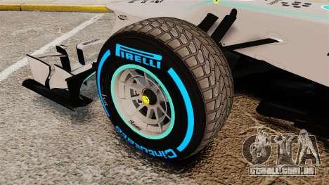 Mercedes AMG F1 W04 v2 para GTA 4 vista de volta