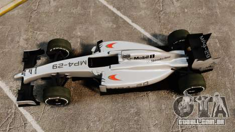 McLaren MP4-29 para GTA 4 vista direita