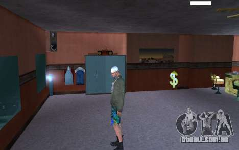 HD pele vagabundo para GTA San Andreas quinto tela