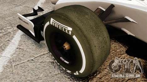 McLaren MP4-29 para GTA 4 vista de volta