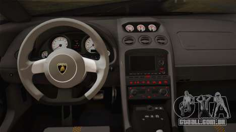 Lamborghini Gallardo Superleggera para GTA San Andreas interior