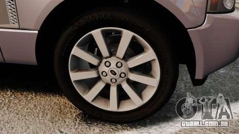 Range Rover Supercharged para GTA 4 vista de volta