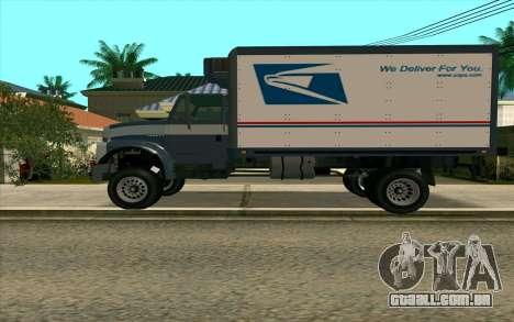 Yankee GTA 4 para GTA San Andreas esquerda vista