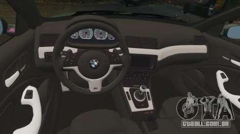 BMW M3 E46 para GTA 4 vista interior