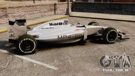McLaren MP4-29 para GTA 4 esquerda vista